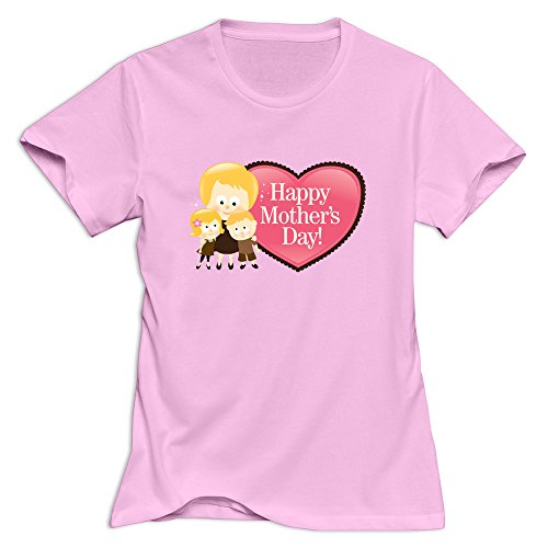 Price comparison product image Short Sleeve Pink M Advance Happy Mothers Day 100% Cotton T-shirt For Woman Fashion Style Round Neck T-shirt