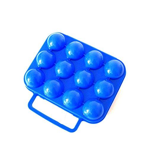 Nasis Portable Egg Holder Egg Carton Egg Box Egg Clip for Camping Picnic Outdoor Activities (12 eggs) ()