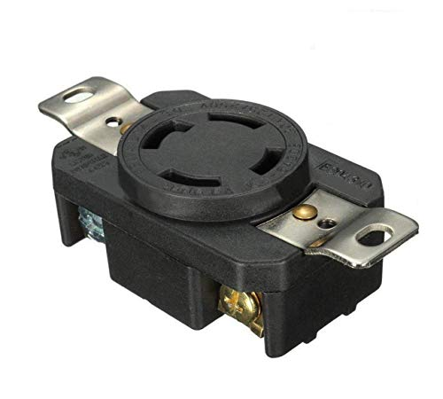 Podoy L14-30R 30A Plug Twist Lock Locking Receptacle Female Device Connector 125V-250V NEMA Plug