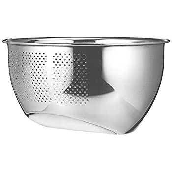 Papaya Bay Stainless Steel Colander, Professional Kitchen Strainer/Washing  Bowl for Vegetables/Fruit