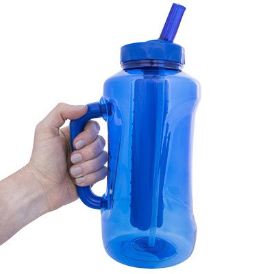 Cool Gear Big Swig EZ-Freeze Hydrate 64oz Water Bottle BPA Free with Twist and Lock Feature (Teal or Blue) (Blue)