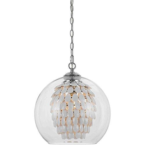 AF Lighting 9105-1H Glitzy Chandelier-White, 1 Light,