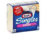 Kraft Single Swiss Cheese, 12 Ounce -- 12 per case.