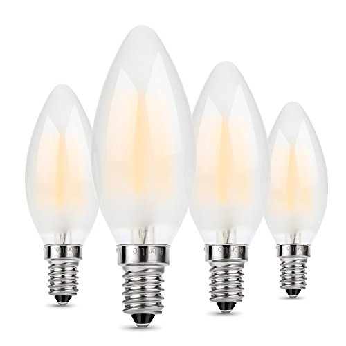 Led E12 Frosted: Albrillo E12 Bulb Candelabra LED Frosted 4W, 40 Watt
