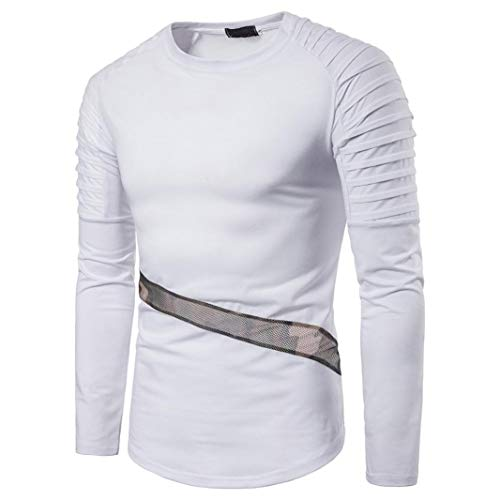 Man Pullover,Ronamick Mens Patchwork V Neck Autumn Winter Long Sleeve Pullover Sweatshirt Top Tee Plus Size Outwear Blouse