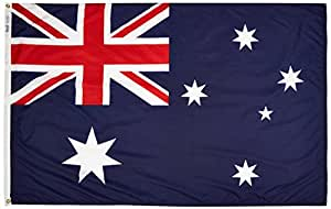 Annin Flagmakers 190399 Nylon Solarguard Nyl-glo Australia Flag, 4 X 6'