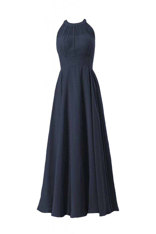 DaisyFormals Long Halter Chiffon Bridesmaid Dress Women Evening Dress (CST2225L)