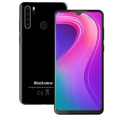"Unlocked Smartphones, Blackview A80 Pro, Dual sim Unlocked Cell Phones, Bundle Andorid 9.0 Pie 4GB+64GB ROM, 6.5"" FHD, Fingerprint Face Detection, 4680mAh high Capacity Battery, at&t Phone on Cricket"