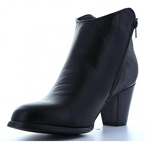 Femme B084830 Bottines Urban Pour b6600 Black 4TTW16Fn