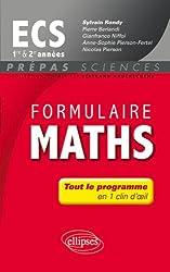 Formulaire Maths Ecs Première & Deuxième Années