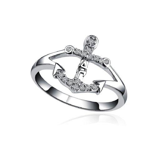 Delta Gamma Anchor Silver Ring (Delta Gamma Ring)