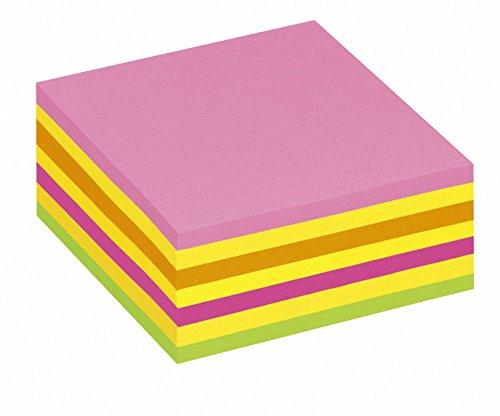 Post-it 2014LP Haftnotiz Würfel, 70 g, 76 x 76 mm, neonpink, -grün, rosa, gelb, 325 Blatt - in weiteren Farben verfügbar