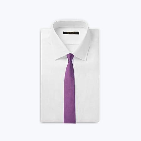 LWBUKK Corbata de Negocios de Seda de Morera Color sólido versión ...