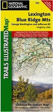 Lexington, Blue Ridge Mts. Hiking Map (Trails Illustrated Hiking Maps, 789)
