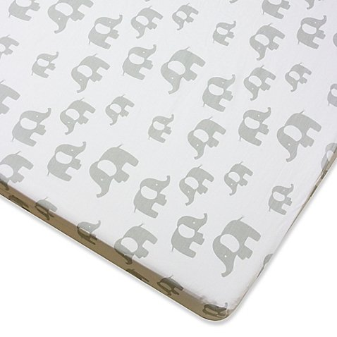Wendy Bellissimo Mix & Match Elephant Fitted Crib Sheet in G