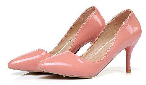 Aisun Donna Semplice Brunito Dressy Taglio Basso Punta A Punta Stiletto Tacco Alto Da Indossare A Lavoro Slip On Pumps Shoes Rosa
