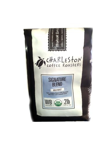 Charleston Coffee Roasters Organic Dark Roast Signature Blend 2 Lb Whole Bean