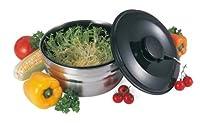 G S D Haushaltsgeräte 30 411 Salatschleuder mit Seilzug aus Edelstahl