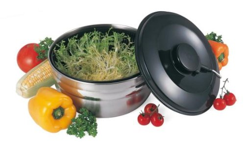 GSD Salad Spin Dryer Of Stainless Steel/Plastic, Silver/Black