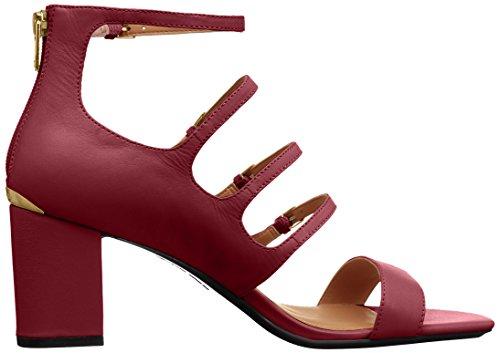 Calvin Klein Womens caz Heeled Sandal, Red, 7.5 Medium US