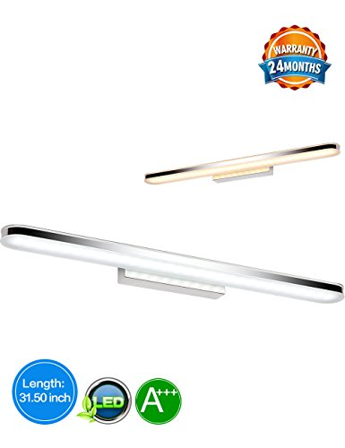 LED Bathroom Vanity Lighting Fixtures Long Shade Stainless Steel Bath Mirror Lamps WaLL Lights (Bathroom Lighting Fixtures Fixture)