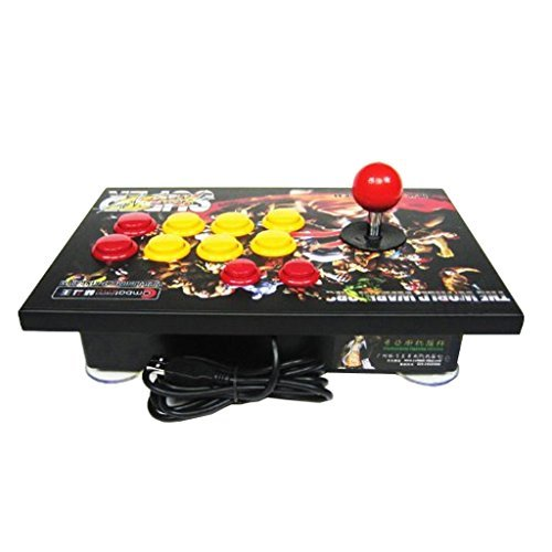 Fighting Stick Arcade Gane Stick Joystick Street Fighter with Turbo Function Ps3-lr for Pc Ps2 Ps3 by Combat King