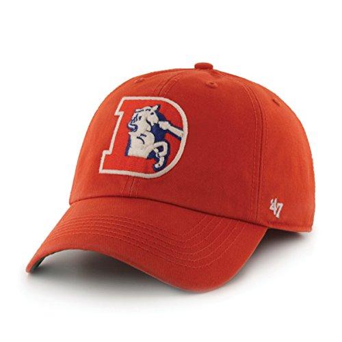 パンサー染色類似性NFL Denver Broncosレトロ1993ロゴFittedオレンジTwill Cap by ' 47 Brand