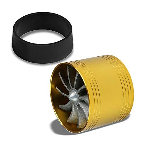 Gold Aluminum Universal Propeller Turbine Fan Intake/Turbo/Filter Turbonator Adaptor Fuel/Gas Saver 2.5