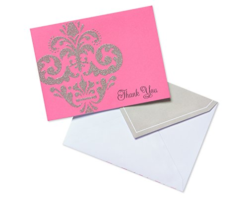 American Greetings Damask Thank-You Cards, 10 Count, ()