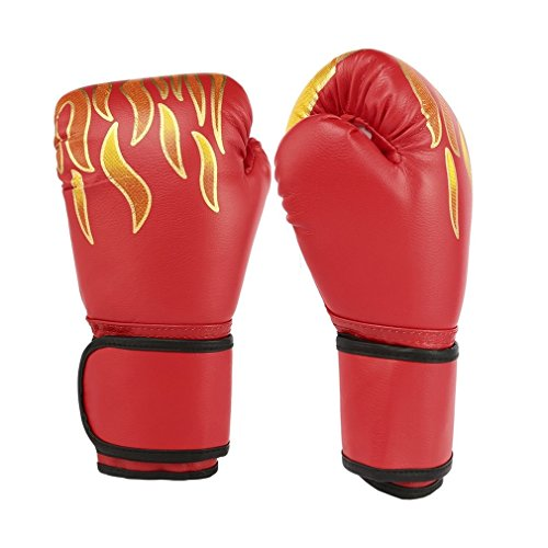 Blackpoolfa OUTAD Premium Contender Boxing Gloves for Muay Thai & Boxing Training | a Pair PU Leather Pro Style Elite Training Boxing Gloves (red) ()