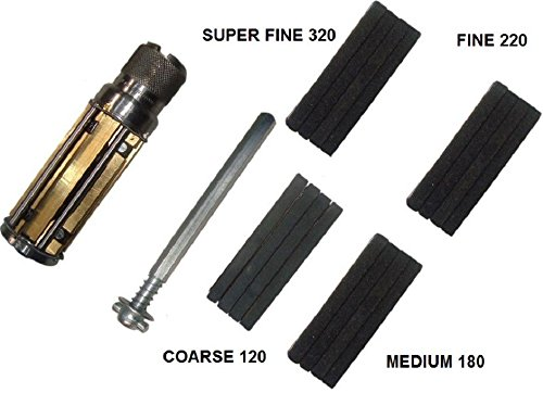 (CYLINDER ENGINE HONE KIT- 34 to 60 mm Honing Machine with 4 set Honing Stones 120, 180, 220, 320)