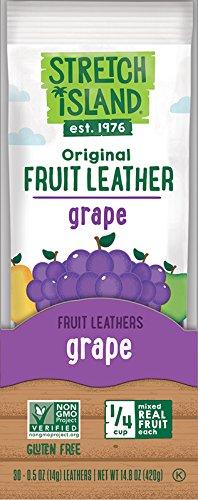 Stretch Island Original Fruit Leather, Grape, 0.5 Ounce (Pack of 30)