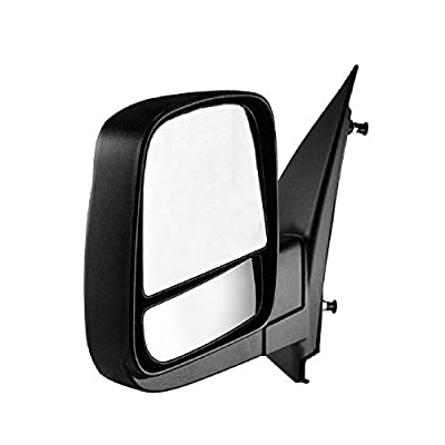 Driver Side Textured Side View Mirror for 08-14 Chevy Express & GMC Savana 1500, 08-17 Chevy Express 2500 3500, GMC Savana 2500 3500 - with Blind Spot Corner Glass - GM1320395: Automotive