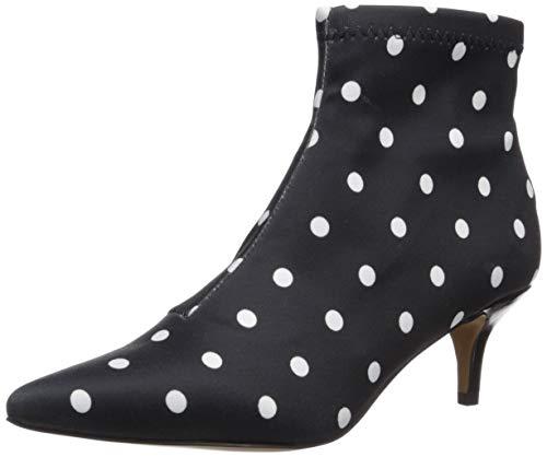 Betsey Johnson Women's Verona Fashion Boot, Black/White Polka Dot, 9 M US
