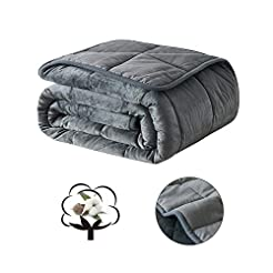 COSYBAY Breathable Weighted Blanket-Dark...