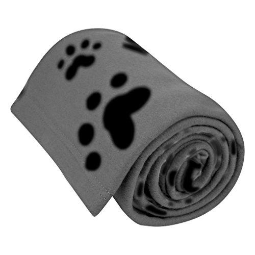 "Evelots Fleece Pet Blanket, Charcoal/Black, 60x40"""