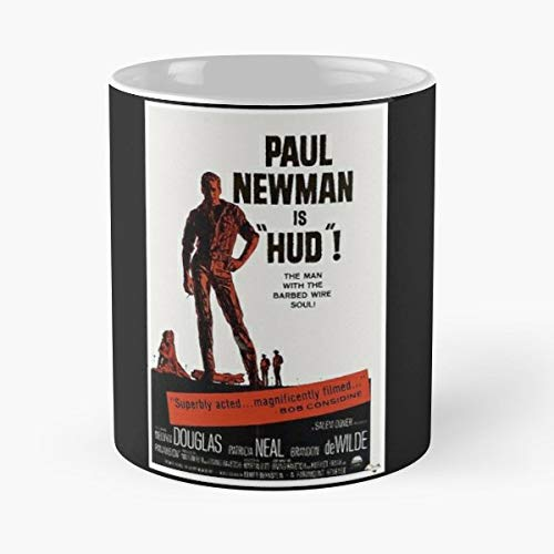 Paul Newman Hud Movie Film Poster - Ceramic Novelty Mugs 11 Oz, Funny Gift