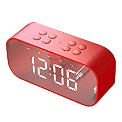 Redvive Top BT510 Large Alarm Clock with TF LED Digit Display with Dimmer Bluetooth Speaker