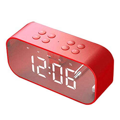 Price comparison product image Redvive Top BT510 Large Alarm Clock with TF LED Digit Display with Dimmer Bluetooth Speaker