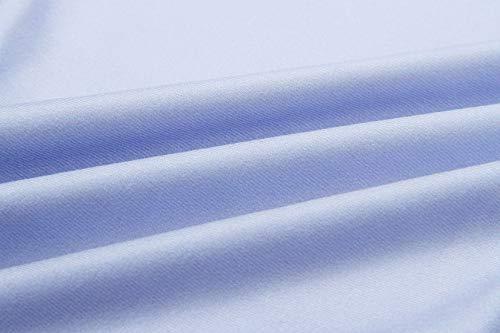 Smalltile Schienale Cime Pendenza Colore Collo Maglie Shirt Manica Casual e Moda Jumper Bluse Quotidiani Blu Autunno Senza Tops Donne a Maglietta Lunga Rotondo T Primavera XFwRrX