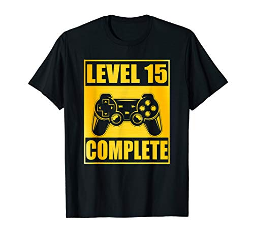 Level 15 Complete Shirt 15th Wedding Anniversary Gift Couple (15th Wedding Anniversary Gift Ideas For Him)