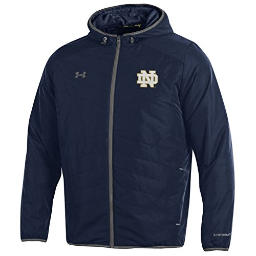 Microfleece Jacket Liner - Under Armour NCAA Notre Dame Fighting Irish Men's Storm-1 Hybrid Jacket, Medium, Navy