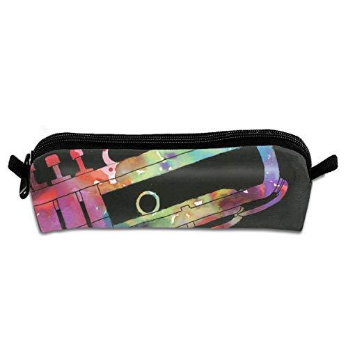 EWFBVa Durable Zipper Stationery Bag Color Musical Instruments Big Capacity Pencil Case