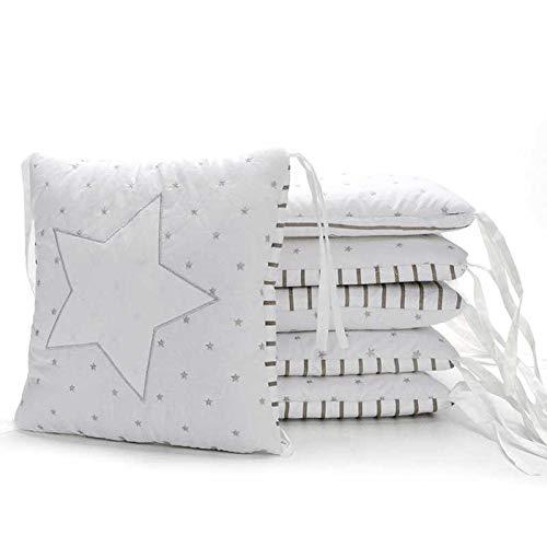 Xxn 6 個入赤ちゃんベビーベッド バンパー,コットンのベビー寝具セット,ユニセックス無衝突赤ちゃんベビーベッド バンパー パッド入りのベッド バンパー   B07KY6JDZ9