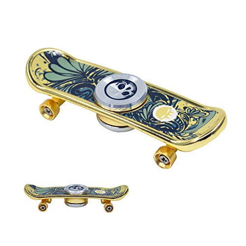 Price comparison product image FIGROL Skateboard Fidget Spinner,Fidget Toy Finger Hand Spinner-Hands spinner Skateboard-For Kids,Fidgeters,Nail Biters and Deep Thinkers last 2-3 mins Spinning