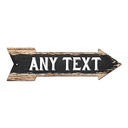 - ANY TEXT ANY NAME Initial Customize Personalize Right Arrow MAN CAVE Street Sign Chic Rustic Street Plate Sign Bar Cafe Restaurant shop Home man cave Decor Gift sign