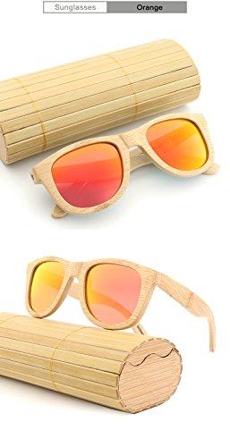 la polarisées Les Shishanyun en Soleil Les de Femmes de Main Soleil qualité Orange Cadeaux Rétro Lunettes de en Bois Lunettes Haute Que Bambou à Tant de en Hommes xX4qxwrT