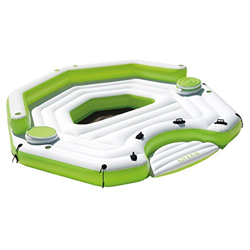 Outdoor Chair Water Floating Island Relaxation Station Lounger Inflatable Lake Large Floating Lounge Raft Comfortable Rafting Party Summer Fun Durable Raft With Built-In Coolers & Cupholders - Skroutz