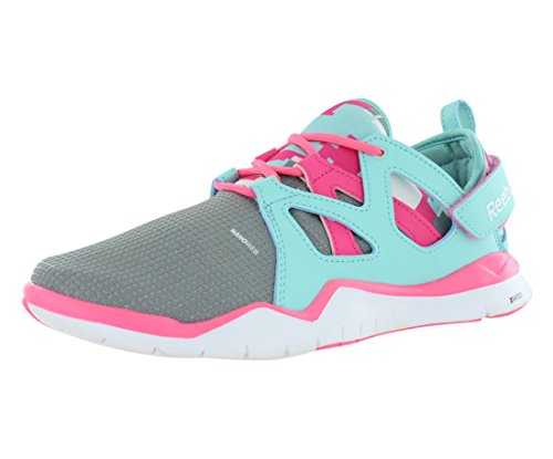 TR Pink Junior's Grey Zcut Shoes Training Size White Blue Reebok 56AwqaA