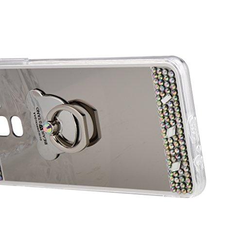 Myk Rhinestone Sp 2018 A8 Glitter Speil Silikondeksel Speil Luksus Gel Gummi Diamant Støtfanger Sølv Euwly Bling Glitter Samsung Galaxy Tpu Telefondekslet Samsung Krystall Støtsikkert Pluss 7xtnBF